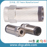 F Compression Connector for RF Coaxial Cable Rg59 RG6 Rg11 (F047)