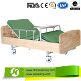 Elegant Home Care Double Crank Wooden Manual Bed
