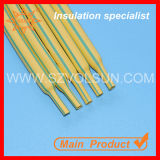 3: 1dual Color Yellow Green Stripped Heat Shrinkable Tube (DBRS-125G (2X) (3X) YG)