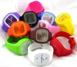 2016 Fashion Silicone Band Colorful Candy Jelly Watch for Promotional