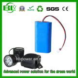 Customized Capacity 3.7V/7.4V/11.1V/12V/14.8V/24V Miner Lamp Camping Light Bike Light Floor Light Fishing Light Emergency Light Rechargeable Battery Pack