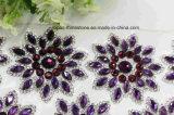 2017 Latest Flower Iron on Rhinestone Patch Crystal Stone Embroidery (TM-234)