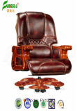 Swivel Leather Executive Office Chair with Solid Wood Foot (FY1222)