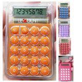 8 Digits Transparent Pocket Calculator with Optional Keychain (LC305)