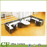 L Shape 4 Person Office Cubicle with High Partition