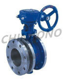 Gear Type Flexible Double Flange Butterfly Valve