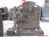 Multicolor Granite Cross Monument Celtic Headstone with Classic Design