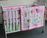 Art No: 01-Pink 100% Cotton Printed Baby′s Bedding Stock