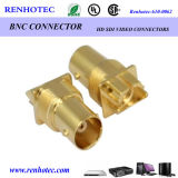 Gold-Plated Edge Mount BNC Female Connector
