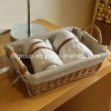 Customized Eco-Friendly Handmade Wicker Storage Basket in Rectangular Shape