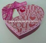 Handmade with Ribbon Heart Shape Rigid Box