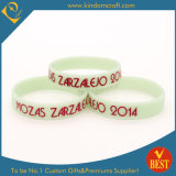 White Wristbands Red Letters Silicone Bracelet in High Quality
