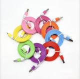 High Quality Colorful USB Data Cable for iPhone5 8pin Flat Cable