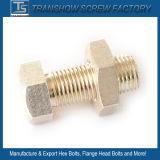 M10X25 Silver Coated Brass Hexagon Bolt Nut
