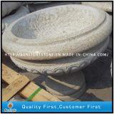 Polished G682 Granite Carved Flower Pot / Planter Pot / Garden Pot