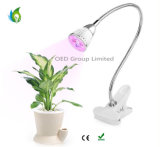 5W LED Plant Grow Lights with Spring Clamp and Gooseneck Arm for Indoor Planting