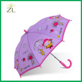 190t Polyester Cartoon Straight Child Umbrella