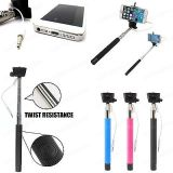 Wired Selfie Stick Phone Holder Built-in Shutter for iPhone