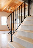 Modern Powder Coating Wrought Iron Railing