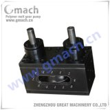 One Inlet Two Outlet Melt Gear Pump for Pet Strap Extrusion Line