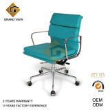 Blue Leather Swivel Meeting Visitor Chair (GV-EA217)