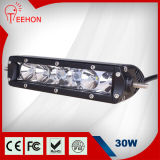 30W Single Row 12V/24V LED Light Bar