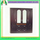 Three Drawers and Three Doors Wooden Wardrobe