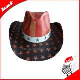 American Flag Hat, Cowboy Hat, Straw Hat, American Star Hat