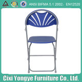 Metal Frame Plastic blue Folding Chair for Party