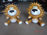 Inflatable Destop Mini Toy Lion Mascot for Sale
