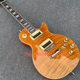 Pango Lp Standard Electric Guitar with Yellow Burst Flame Maple (PLP-018)
