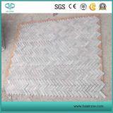 Bianco Carrara White Marble Mosaic Tiles Natural Slate for Kitchen Backsplash/Bathroom Wall Panel/Cultured Stone/Ledgestone/Decoration/Bathroom Floor