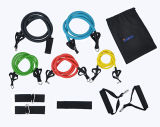 Resistance Bands Fitness Equipment with D-Ring, Door Anchor, Foam Handles, Ankle Strap and Carrying Bag