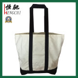 16oz Fashion Canvas Cotton Shopping Handle Bags for Ladies