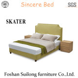 Modern American Style Fabric Bed Bedroom Furniture Sk12