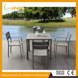 All Weather Durable Outdoor Open Air Balcony Coffee Shop Table and Chair Garden Furniture