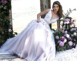 V-Neckline Lace Prom Party Dress A-Line Long Evening Dresses Z7019