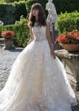 Beaded Sheer Top Bridal Ball Gowns Lace Wedding Dress 2018 Lb1837