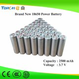 Rechargeable Lithium Battery 3.7V 2500mAh Li Ion 18650 Battery Pack