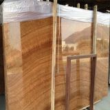 High-Polished Yellow Wooden Marble Slab/Cut-to-Size for Building Wall/Flooring Tile