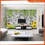3D Stone Wall Pattern with Beautiful Landscape Oil Painting
