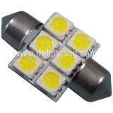 31mm 6PCS SMD 5050 Festoon LED Car Bulb (S85-31-006Z5050)