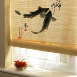 Hand-Painted Bamboo Blinds