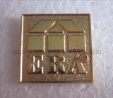 Professional Manufacturer of Metal Gold Lapel Pin with Sandblasting (badge-072)