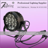 Waterproof 12X15W RGBWA LED PAR Cans with Interior Control