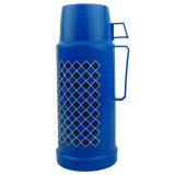 High Quality Plastic Cap Blue Vacuum Flask Thermos