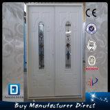 Commercial Household Steel Double Entry Glass Metal Door