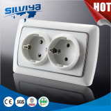 Grounding Schuko 2 Gang Electrical Socket