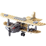 14882001-126PCS Century Military Sopwith F-1 Camel Fighter Helicopter Building Block Toy British Royal Air Force Model