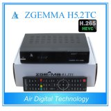 Two DVB T2/C + DVB S2 with H. 265 Kodi Player Zgemma H5.2tc